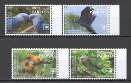 NW0513 2020 RAROTONGA PARROTS BIRDS OF THE WORLD FAUNA SET MNH - Parrots