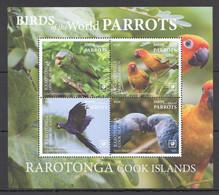 NW0514 2020 RAROTONGA PARROTS BIRDS OF THE WORLD FAUNA BL MNH - Parrots