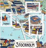 France Nouveautés 2021 Capitales Stockholm Feuillet 2021  Neuf ** TB MNH Sin Charnela Faciale 6 - Nuovi