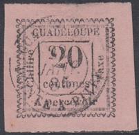 Guadeloupe 1876-1903 - Timbre-taxe N° 9 (YT) N° 9 (AM) Oblitéré. Aminci. - Portomarken