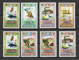 Bhutan 1974 Transport Mi.Nr. 592/99 Kpl. Satz ** - Bhutan