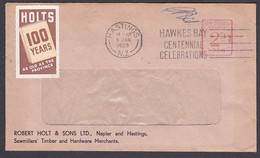NEW ZEALAND 1959 METER ADVERTISING COVER HOLTS CINDERELLA - Briefe U. Dokumente