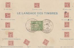 Carte Maximum La Plus Ancienne De France - Le Langage Des Timbres - Zonder Classificatie