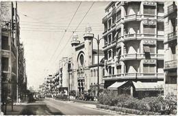 CPSM - ORAN - Le Boulevard Joffre Et La Synagogue - Oran