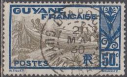 Guyane Française 1922-1947 - Oyapoc Sur N° 120 (YT) N° 120 (AM). Oblitération De 1930. - Gebraucht