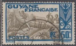 Guyane Française 1922-1947 - St-Jean Du Maroni Sur N° 120 (YT) N° 120 (AM). Oblitération. - Gebraucht