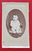 Photo CDV Petit Format LANDREAU  SEZANNE Montmirail Bebe Collier - Ancianas (antes De 1900)