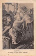 Boticelli (Tableau) - La Vierge - L'Enfant Jésus Et Saint Jean - Schilderijen