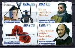 Cuba 2016 / William Shakespeare & Miguel De Cervantes MNH Don Quijote / Cu2217  31-16 - Schrijvers