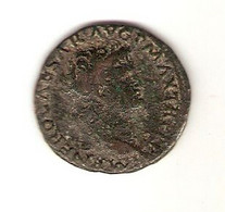 Monnaie Romaine, As De Néron, 66 A.c, Tête Nue à Droite / Victoire à La Main Sur Un Bouclier, S C - 1. The Julio-Claudians (27 BC Tot 69 AD)