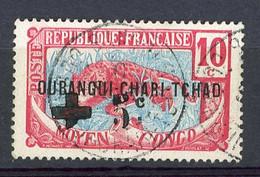 OUBANGUI  Yv. N° 18   (o)   +5 S 10c  Croix-Rouge  Cote  3,7 Euro  BE  2 Scans - Gebruikt