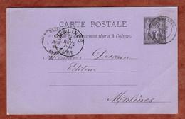 P 8 Allegorie, Bailleul Nach Malines 1886 (4445) - Standard Postcards & Stamped On Demand (before 1995)