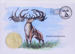 Bioko Island $ 5 2020 UNC Extinct Animals Giant Deer - Aequatorial-Guinea
