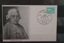 DDR 1988, Ganzsache Carl Ph. Emanuel Bach, SST - Privatpostkarten - Gebraucht