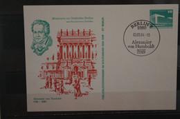 DDR 1984, Ganzsache Alexander Von Humboldt, SST - Privatpostkarten - Gebraucht
