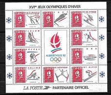 Bloc N°14 Jeux Olympiques D'Albertville Neufs * * TB =MNH VF Jamais Plié  Voir Scan  Soldé Au Prix De La Poste En 1992 ! - Winter 1992: Albertville