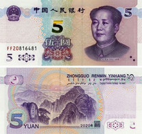 China 5 Yuan 2020 UNC (Pnew) - China