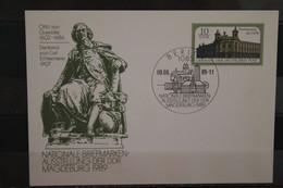 DDR 1989, Ganzsache Otto Von Guericke, Nationale Briefmarken-Ausstellung Magdeburg, SST - Privatpostkarten - Gebraucht