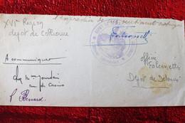 DÉPÔT DE DÉTENUS DE COLLIOURE CADM-16é RÉGION 1919 -WW1-GUERRE 1914/18 -☛Militaria Document Militaire - 1914-18