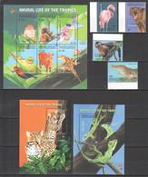 H879 2001 GRENADA CARRIACOU FAUNA ANIMAL LIFE OF THE TROPICS !!! KB+SET+2BL MNH - Altri