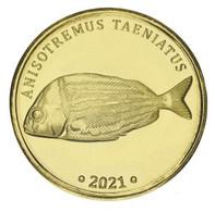 Labuan 5 Ringgit 2021 UNC Malaysia TaeniatusFish - - Sonstige Münzen