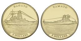 """Nauru 2 $ 5 Coin Set 2020 """"Battleships - Nagato And Yamato"""" UNC - Nauru"""