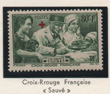 Timbre Neuf 1940 Croix-Rouge Pour Nos Blessés - YT 459 - 80 C. + 1 F. Vert - Ungebraucht