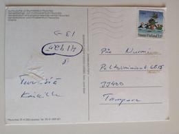 1994..FINLAND  ...VINTAGE   POSTCARD WITH STAMP.. - Cartas