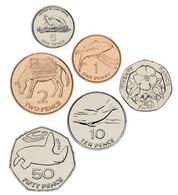 Saint Helena Set Of 6 Coins 1997-2006 UNC 1, 2, 5, 10, 20, 50 Pence - St. Helena