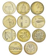 Slovenia Set Of 11 5 Tolar Coins 1993-1999 AU-UNC - Slowenien