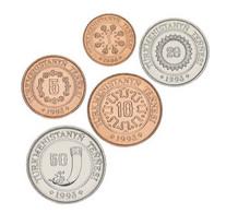 Turkmenistan Set Of 5 Coins 1993 UNC - Turkmenistan