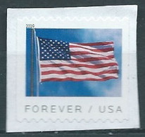 VEREINIGTE STAATEN ETATS UNIS USA 2019 U.S. FLAG BANKNOTE COIL F USED ON PAPER SC 5343 MI 5361BG - Usados