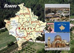 Kosovo Country Map New Postcard Landkarte AK - Kosovo