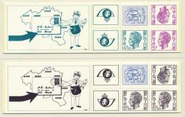 D - [151374]SUP//**/Mnh-B12/13, Carnets De 1975, Lion Héraldique 50c Et Type Elstrom (4,50, 5 Et 6,50F), SNC - Booklets 1953-....