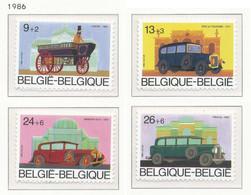 D - [152653]TB//**/Mnh-[2232/35] Belgique 1986, Anciennes Voitures Belges, Auto, SC, SNC - Voitures