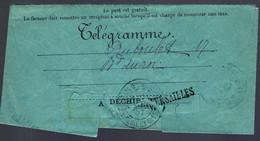 1897 - TÉLÉGRAMME DE VERSAILLE - - Telegramas Y Teléfonos