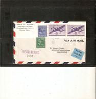 LETTRE USA POUR MADAGASCAR ( Peu Courant ) Recommandé Par Avion En 1947 . Timbres 2XPA28 + 390 +395 . CACHETS VERSO - Covers & Documents