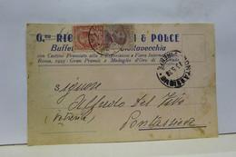 CIVITAVECCHIA   --- ROMA  --    GINA   RIC.....  & POLCE  -- BUFFET  STAZIONE - Civitavecchia
