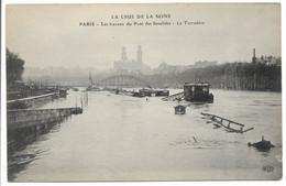 CPA 75 PARIS / CRUE DE LA SEINE / LES TRAVAUX DU PONT DES INVALIDES LE TROCADERO / ELD    / TBE - Otros
