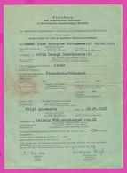263929 / Germany DDR Leipzig Invitatie Pentru Sedere In Vizita Republica Democrata Germana , Bulgarian Citizen - 1950 - ...