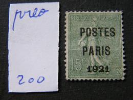 Preo   No 28 Neuf * - 1893-1947