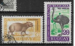 Uruguay 1970 Nandu Mi.-Nr. 1184, 1185 O/used - Ostriches
