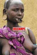 F29 PHOTOGRAPHIE ETHNIQUE AFRIQUE ETHIOPIE TRIBU MURSI FEMME SEIN NU MUTILATION PEUPLE TRIBAL ETHNIC AFRICA NUDE WOMAN - Etiopía
