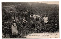 Salins Les Bains - Les Vendanges A La Longefin - 18 Octobre 1906 - RARE - CPA° - Andere Gemeenten
