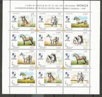 ESPAÑA CABALLOS CARTUJANOS SERIE COMPLETA  EDIFIL NUM. 3608/3613A ** MINI PLIEGO NUM. 62 - 1991-00 Unused Stamps