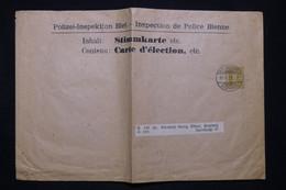 SUISSE - Entier Postal De L 'Inspection De La Police De Bienne ( Carte D'electeur) En 1908 - L 98563 - Enteros Postales