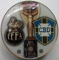 Pin FIFA World Cup 1958 1/2 Final France Vs Brazil - Calcio