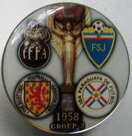 Pin FIFA World Cup 1958 Group 2 France Scotland Paraguay Ugoslavia - Calcio
