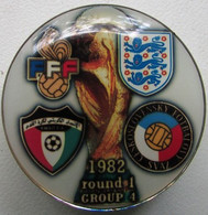 Pin FIFA World Cup 1982 Round 1 Group 4 France England Czechoslovakia Kuwait - Calcio