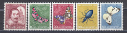 Switzerland 1956 - Pro Juventute: Insekten, Mi-Nr. 632/36, MNH** - Nuevos